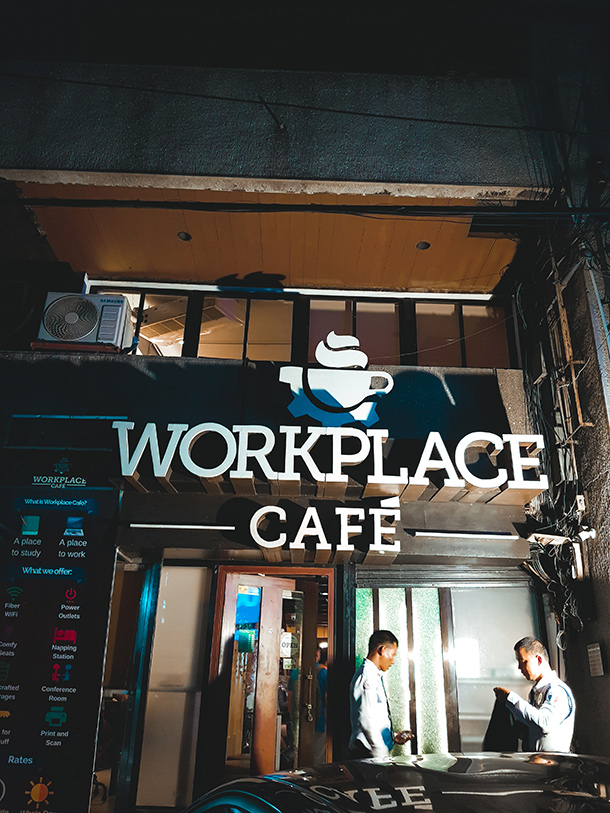 Co-Working Spaces in Cebu City: Exterior of Workplace Cafe