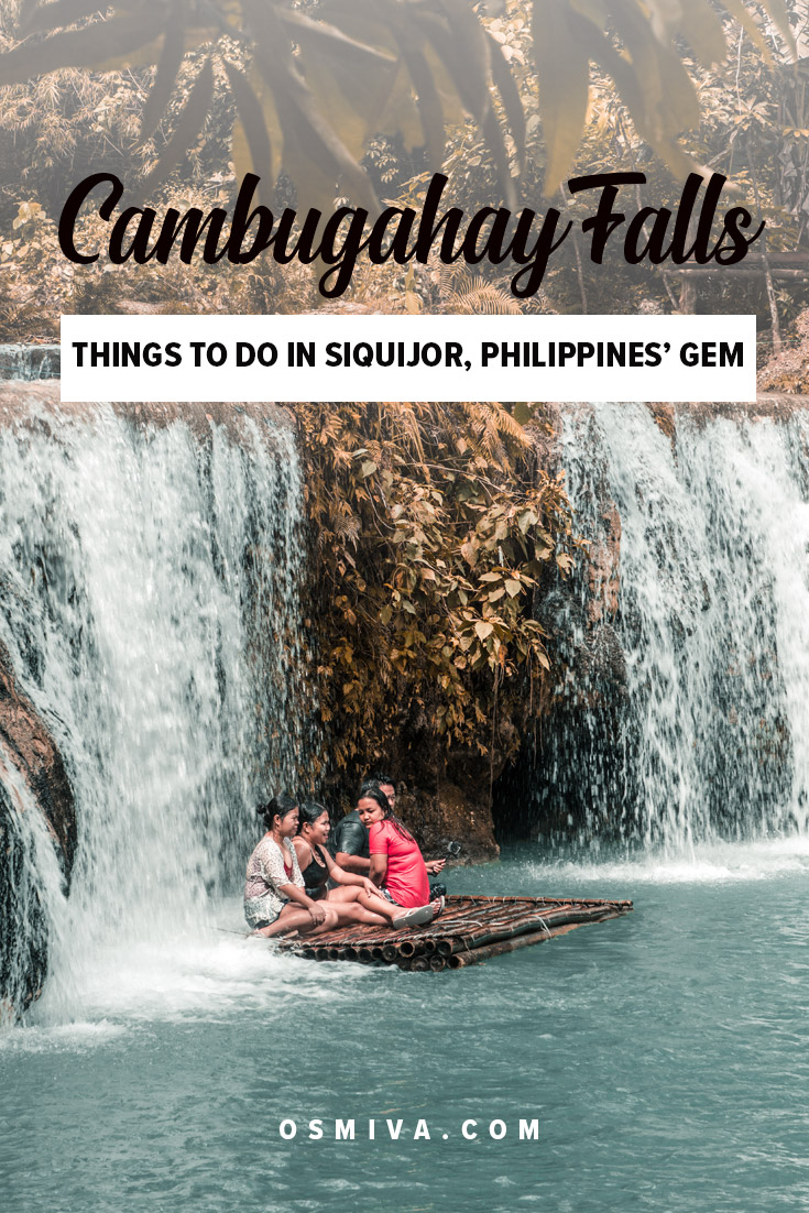 Fun Things to Do at the Cambugahay Falls in Siquijor. Includes guide on how to get here, opening hours and fees. Plus how to enjoy your day trip here. #travelguide #cambugahayfalls #siquijor #philippines #siquijorphilippines #asia #choosephilippines #osmiva #guide #daytrip