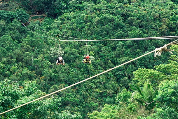 Ziplining Over the Loboc River