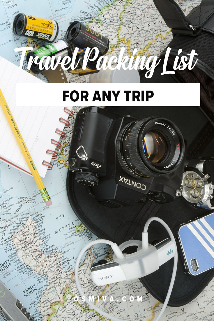 Basic Items To Pack including items for your luggage and carry-on. We have also included a travel packing list to help you get organized plus tips on how to know what to pack! #traveltips #basicitemstopack #travelpackinglist #travel #packinglist #osmiva