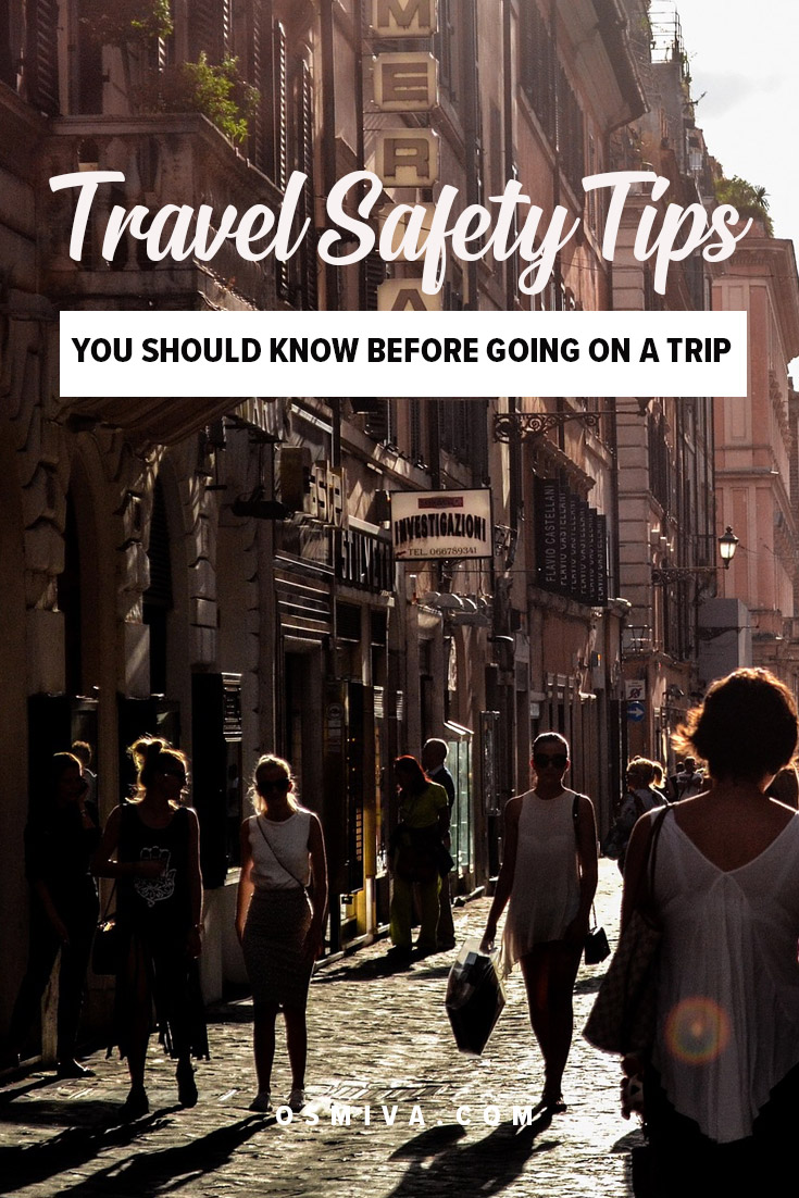 Safety Tips Away From Home. List of practical safety tips for anyone wanting to travel locally or abroad. #travelsafetytips #traveltips #safety #guide #osmiva