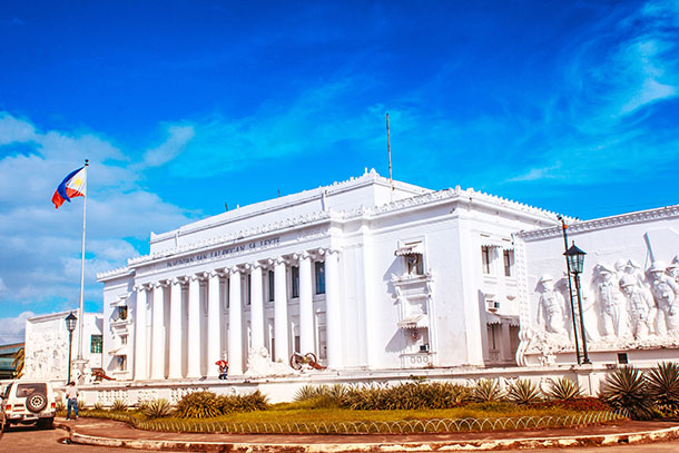 Neo-Classical Facade of the Leyte Provincial Capitol
