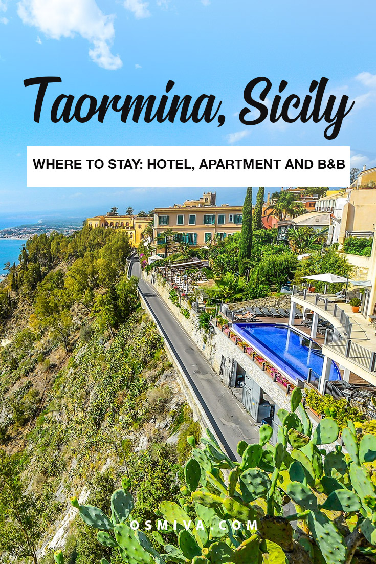 Taormina, Sicily's Fantastic Hotels to Stay In plus Apartments and Bed and Breakfast! The list is divided based on your preference. Taormina Apartments. Taormina Bed and Breakfast. #taormina #taorminaaccommodation #taorminahotels #taorminaapartments #taorminabedandbreakfast #sicily #sicilyhotels #osmiva