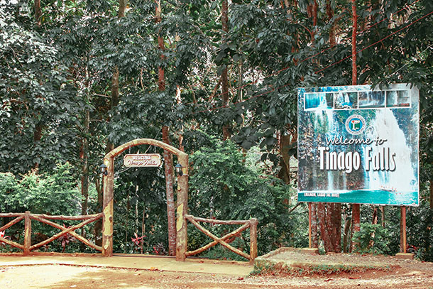 Entrance of the Tinago Falls