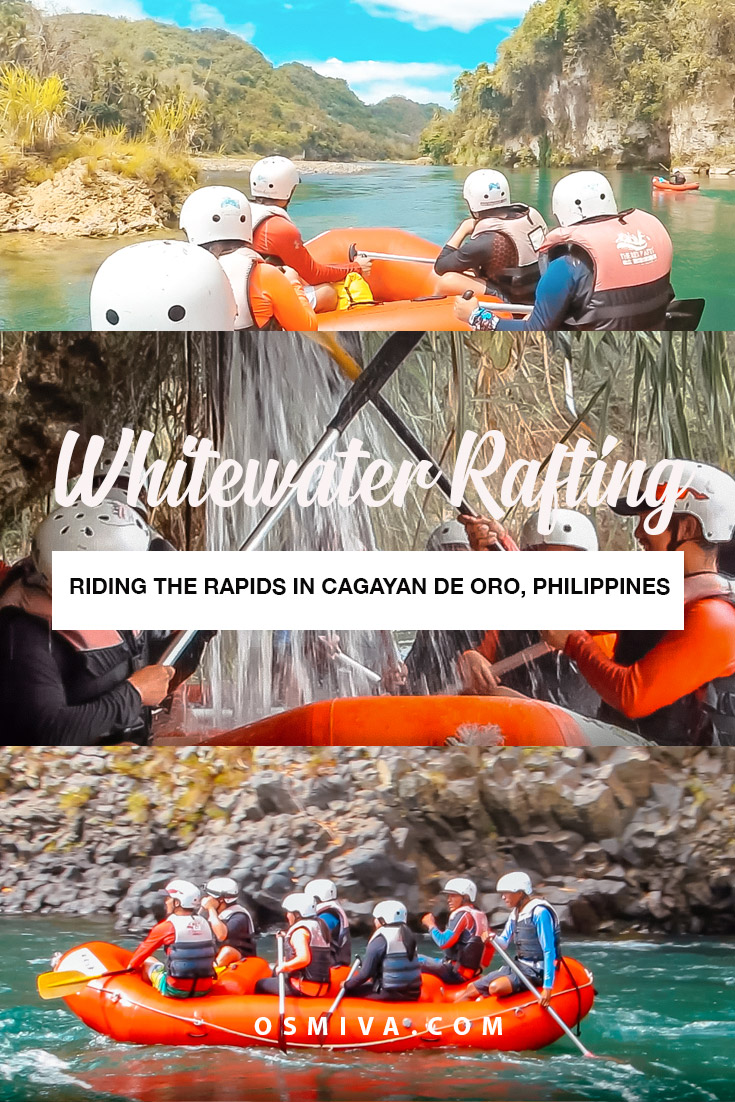 Riding the Rapids: The Whitewater Rafting Adventure Guide in Cagayan De Oro. All you need to know when trying out the whitewater rafting in CDO. Includes how and where to book a tour, plus tours costs, what to expects. And your frequently asked questions, all answered! #whitewaterrafting #whitewaterraftingcdo #cagayandeoro #philippines #asia #travelguide #travelph #adventuretravel #osmiva
