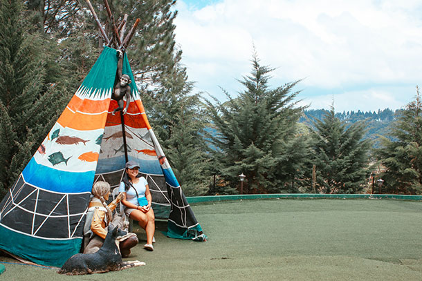 Tepee at the Dahilayan Forest Park