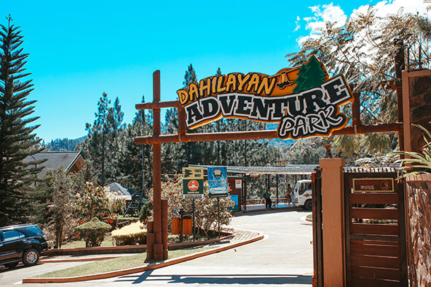 Dahilayan Adventure Park Entrance