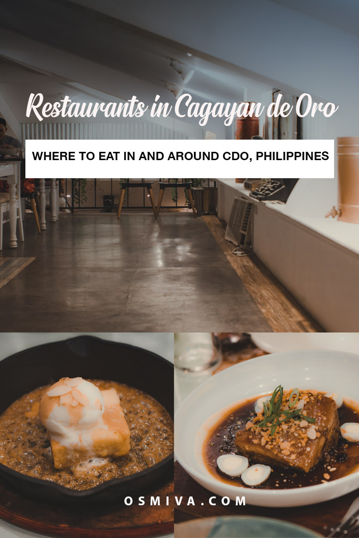 Delicious Guide to Cagayan de Oro Restaurants. Where to eat in Cagayan de Oro. Restaurants in CDO. Best Restaurants in CDO. This list compiles our recommended places to eat in and around Cagayan de Oro City. Includes price range, over-all verdict, hours and much more. #bestrestaurantsincdo #cagayandeororestaurants #wheretoeatincagayandeoro #foodguide #foodietravel #travelguide #osmiva #cagayandeoro #philippines