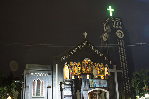 Saint Augustine Metropolitan Cathedral of CDO at night