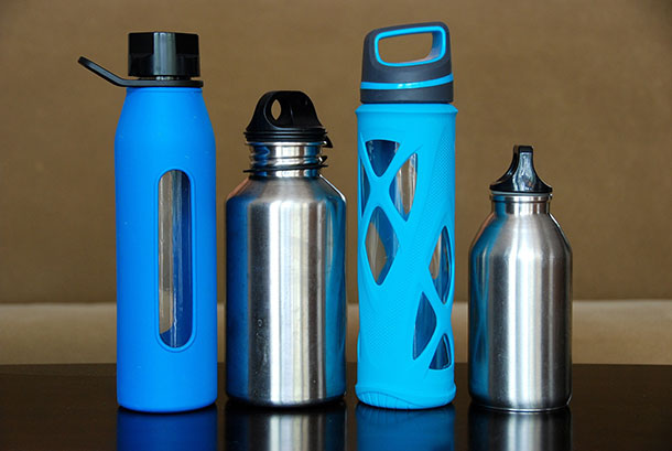 Portable and refillable water bottle