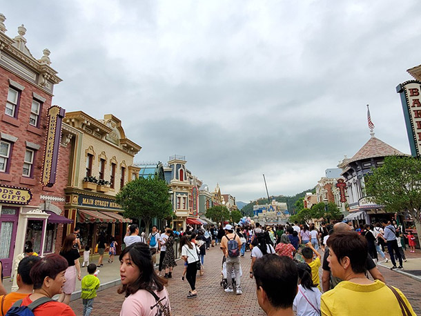 Main Street USA at HK Disneyland