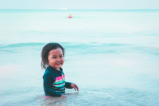 Things to do in Boracay with Kids: Swimming