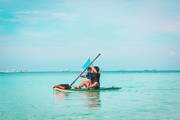 Things to do in Boracay: Paddle Boarding