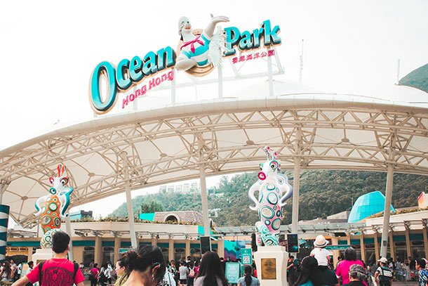 Hong Kong Ocean Park Entrance
