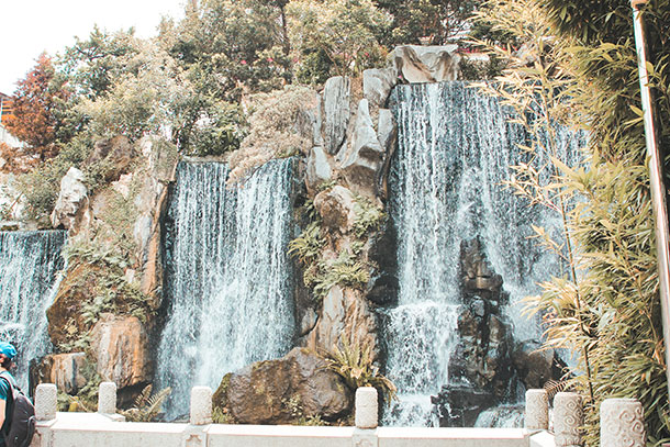 Waterfall Longshan Temple