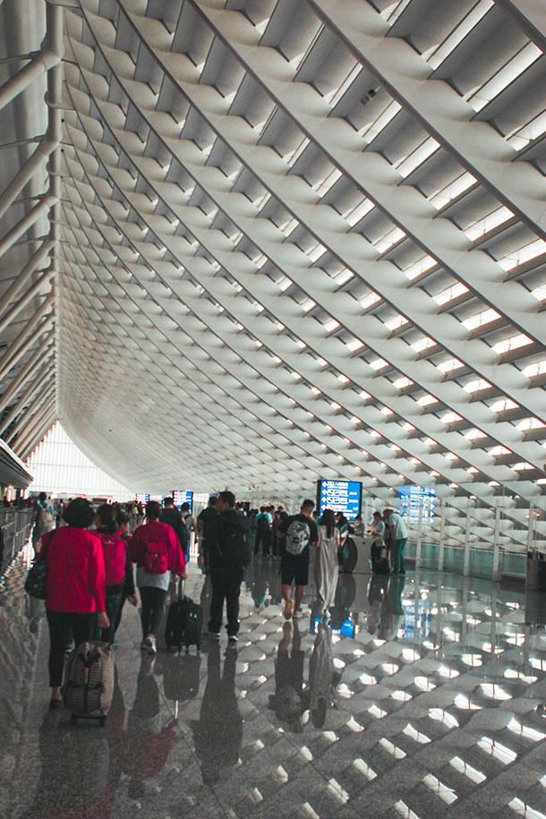 Arrival Hall at Taoyuan International Airport