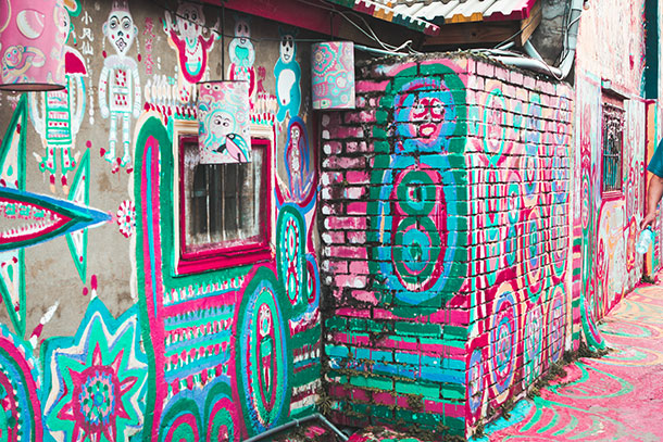 Painted Walls of the Rainbow Village