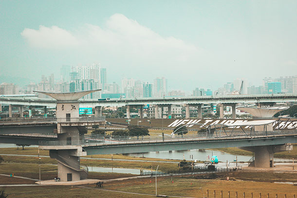 View of Taipei from the Train