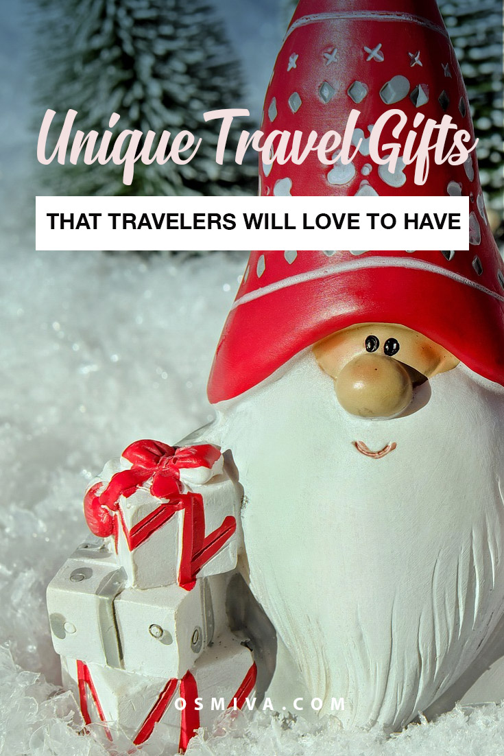 Thoughtful and Unique Travel Gifts Ideas For Frequent Travelers. List of cool gift ideas this holiday season and other occasions. Gift guide ideas for your loved one who loves to travel. #giftideas #travelgifts #giftsfortravelers #traveltips