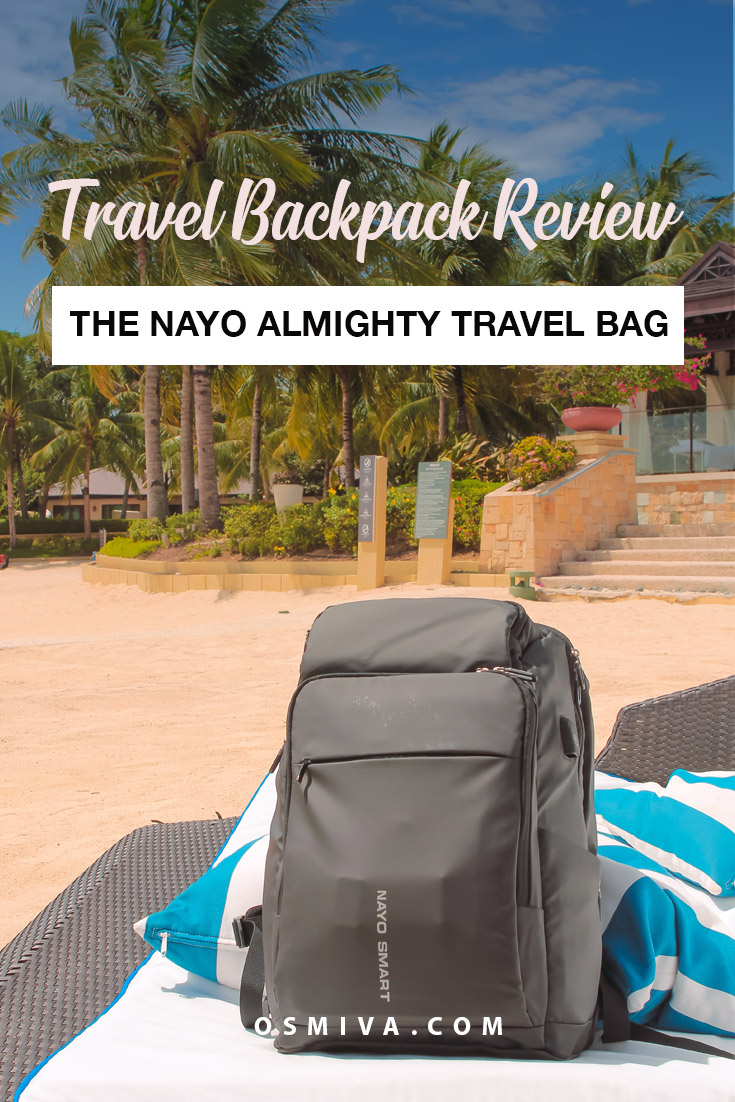 Convenient Traveling Backpacks: The NayoSmart Almighty Review. The bag for all kinds of travellers. NayoSmart Backpacks for Travelers. Our experience using the Nayo Almighty Backpack from NayoSmart. #travelproduct #travelbags #travelbackpack #nayosmart #nayoalmighty #sponsored #collaboration #brandcollaboration #traveltip