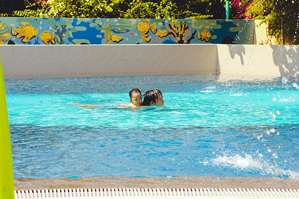 Swimming at the Kiddie Pool