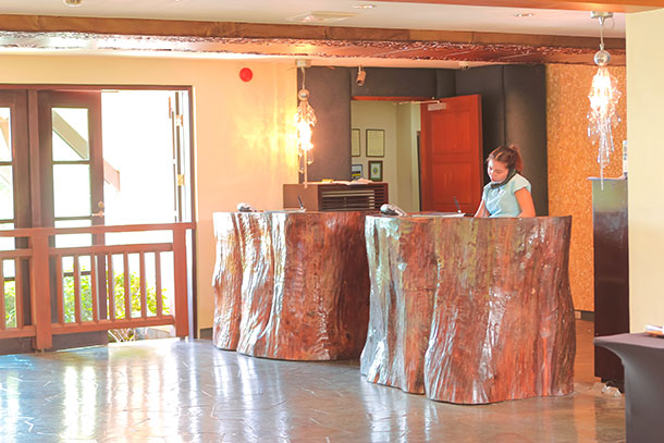 Front Desk at the Resort