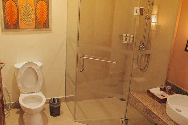 Bathroom at the Deluxe Room