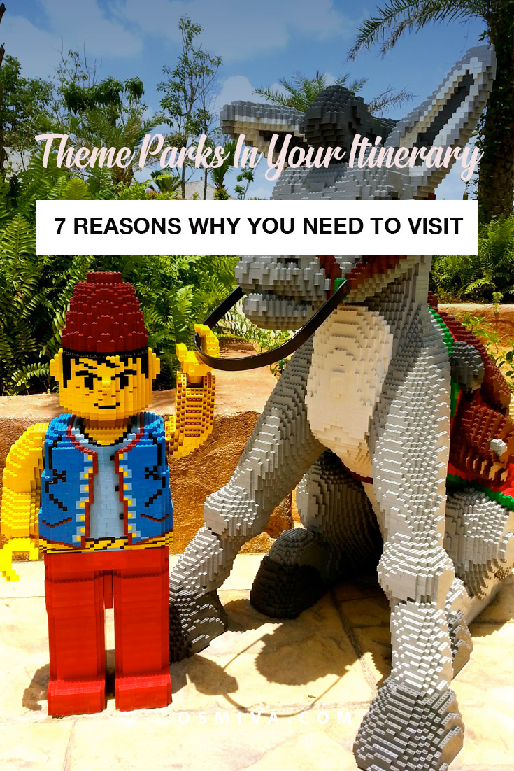 7 Reasons Why You Should Visit Theme Parks at least once in your lifetime. No matter how old or young you are! #themeparks #themeparkstravel #reasonstovisitthemeparks #traveltips #travelinspiration #travelideas