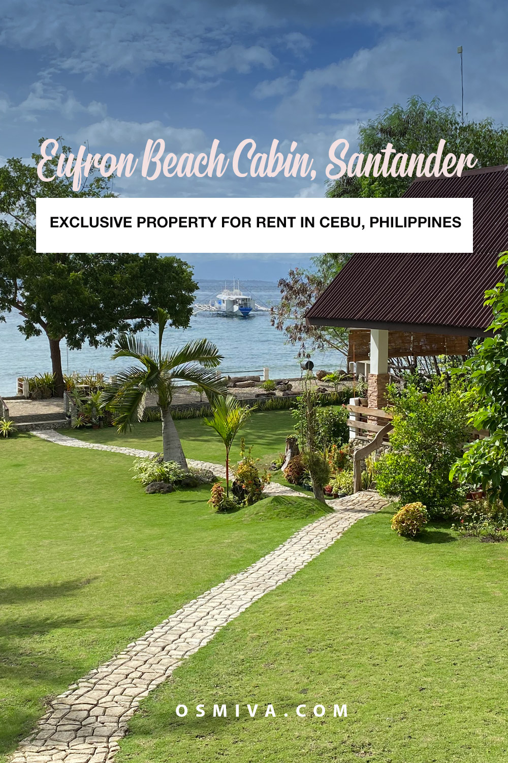 Relaxing Family Staycation at the Eufron Beach Cabin in Santander, Cebu. A nice exclusive beach property for families and big groups. Family staycation in Southern Cebu. #eufronbeachcabin #exclusiveproperty #houseforrent #familygetaway